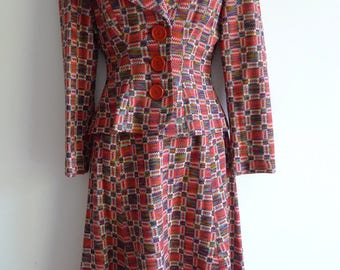 Lee Bender (Bus Stop) 70s fitted suit S/XS
