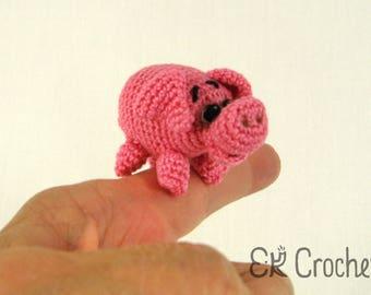 Tiny Crochet Amigurumi Pink Pig