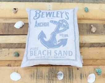 Summer Beach Pillow- Bewley's Anchor Pure Beach Sand