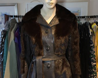 Genuine 1960s Vintage Fur Coat Mink