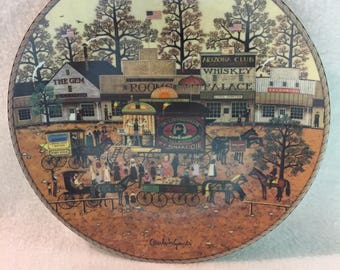 Bradford Exchange Charles Wysocki's American Frontier Collector Plate - 'Dr. Livingwell's Medicine Show' (#194)