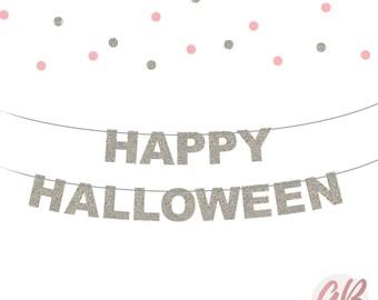 Happy Halloween decor | Halloween decoration | Glitter banner | Halloween party | Party decoration | Halloween banner | Halloween garland