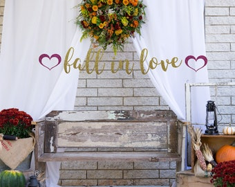 Fall in Love banner, gold glitter party decorations, fall bridal shower decorations, fall banner, fall in love, fall wedding, wedding decor