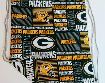 Green Bay Packers Reversible Drawstring Bag