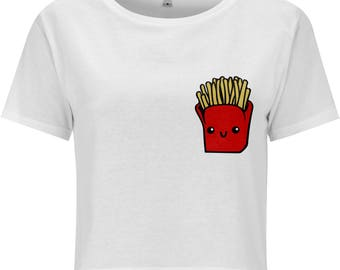 Kawaii Fries Cropped T-Shirt
