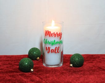 Merry Christmas Yall, Christmas Candles, Christmas Centerpiece, Christmas Decorations, Holiday Decorations, Holiday Decor, Christmas Decor