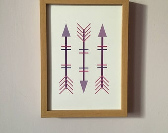 Purple Arrows Art Print