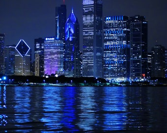 Chicago Skyline, Reflection, Architecture Photography, Color Photography, Black and White Photography - Reflections