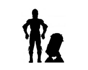 Star Wars  R2-D2 and C3PO Droids Vinyl Decal Stickers