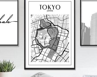 Tokyo Map, Tokyo Map Print, Tokyo Print, Tokyo Poster, Printable Map of Tokyo, Tokyo Wall Art, Tokyo Japan City Map Poster, Instant Download