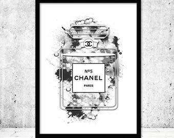 Chanel Perfume Print, Perfume Poster, Chanel Bottle Print, Chanel Perfume Art, Chanel no 5, Coco Chanel Perfume Printable, Coco Chanel Print