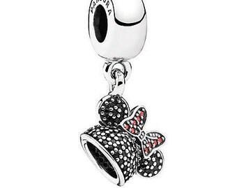 NEW Authentic PANDORA Bead Disney Minnie Sparkling Ear Hat Charm Park Exclusive