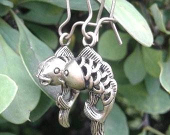 Bronze Koi Fish Earrings