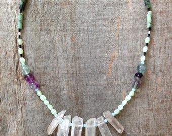 Quartz Crystal and Turquoise