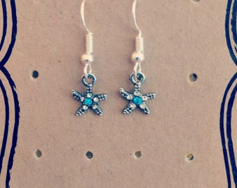 Starfish Silver Plated Earrings