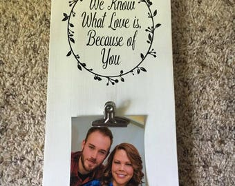 Personalized Sign with Single Picture Clip