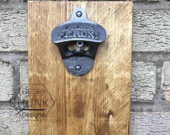 Rustic Bottle Opener, Wall Mounted Bottle Opener, Cast Iron Bottle Opener, Beer Bottle Opener, Kitchen Wall Decor, Outdoor Bottle Opener