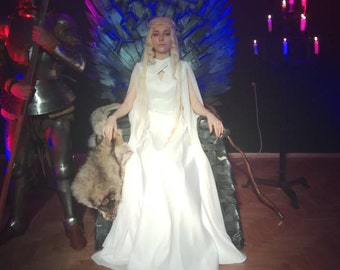 Costume Daenery -Game of Thrones -Cosplay Costume- Halloween Costume-Wedding Dress-Cosplay Daenery-Fantasy Dress-Cosplay Dress