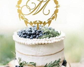 Customized Wedding Cake Topper Personalized Cake Topper for Wedding, Custom Personalized Wedding Cake Topper, Monogram Cake Topper