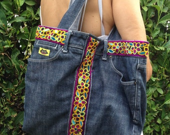 Recycled jeans bag