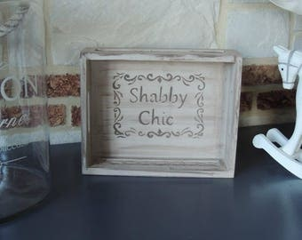 Shabby chic wooden tray