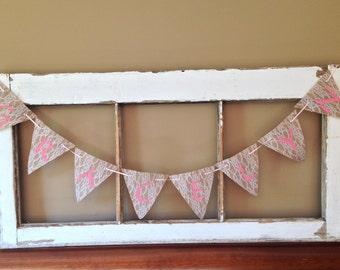 Burlap Lace Name Banner / Baby Girls Nursery Decor/Photo Shoot Prop/Baby Shower Decor/Bridal Shower/Baptism/Wedding Decoration