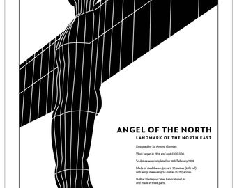 Angel of the North Tea towel