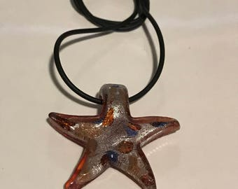 Fused Glass Starfish Pendant