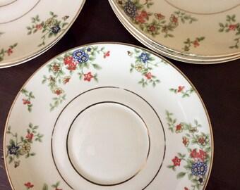 1930's Heinrich & Co Selb Bavaria dessert plates/tea saucers (set of 6)