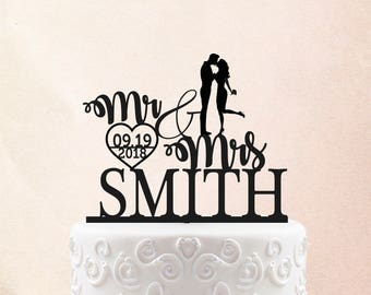 Wedding Cake Topper Customized Wedding Cake Toppers Personalized Cake Topper for Wedding, Miss to Mrs Cake Topper ideas  12