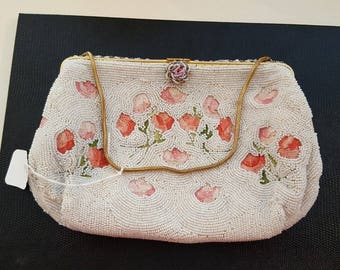 French caviar bead tambour embroidery purse