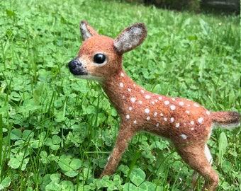 Needle Felted Baby Deer
