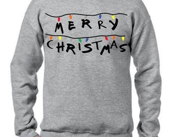 Ugly Christmas Sweater, Ugly Christmas Party, Stranger Things, Merry Christmas Sweatshirt, Ugly Sweater Party, Funny Christmas Sweatshirt