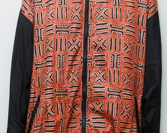 "Rare 90's Vintage ""AVON"" Abstract Patterned Multicolor Windbreaker Jacket Sz: LARGE(Men's Exclusive)"
