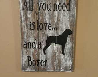 All you need is love and a Boxer plaque
