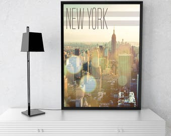 New York Print, NY Print, Instant Download, Architecture Print, Printable Art, Wall Art, Home Decor, NY Art, New York City Print