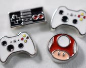 Video Game Locket Charms, Super Mario Charm, Gamer Girl, Floating Charm Set, Video Game Floating Charms   Gamer Charms, Love to Game, Mario