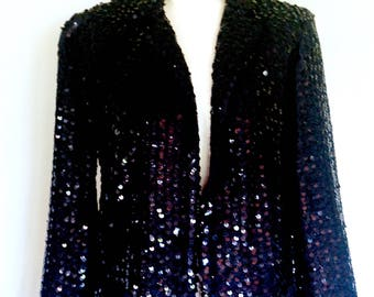 Black Sequined Jacket
