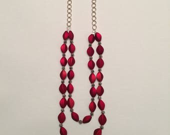 Red Matte Necklace