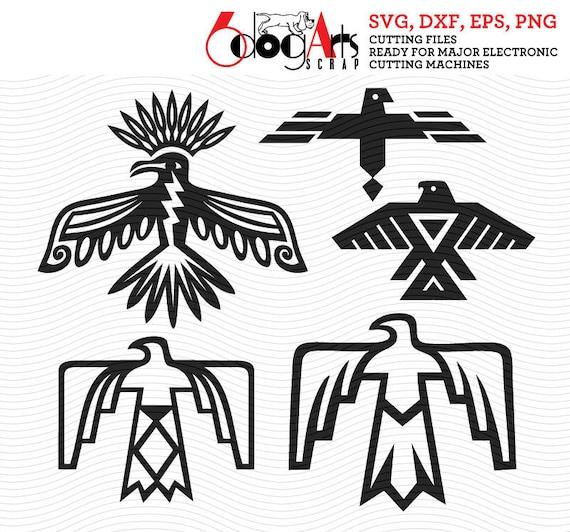 Native American Thunderbird Digital Cut Files Svg Dfx Eps Png
