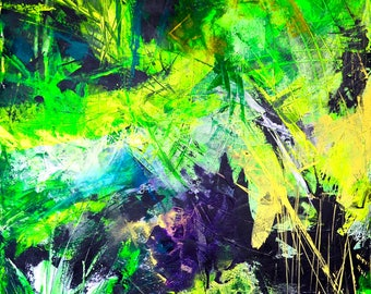 Wood(FOREST).Original acrylic abstract art made by Lana Mindeli.Contemporary painting.Walldecor,homedecor.100-80cm.Stretched canvas.2017