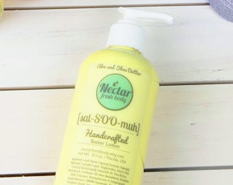 Sat-SOO-muh (satsuma) Handcrafted Butter Lotion with Aloe and Shea Butter