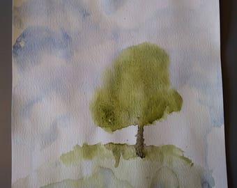 Tree on floating island