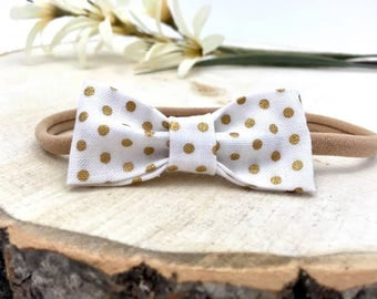 Nude Baby Headband,Nylon Headband,Thin Baby Headband,Simple Headband,Hair Bow,Hair Clip,Baby Bow,Skinny Nylon Bow, Little Baby Headband