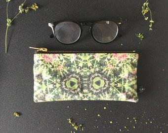 Linen Wildflower Pouch (Long)