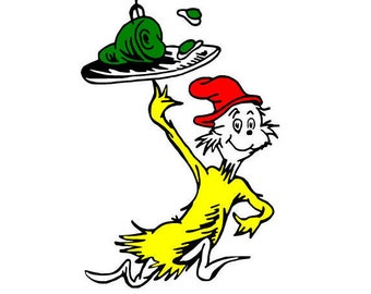 Dr Seuss Green Eggs and Ham and Thing 1 Thing 2 SVG LOT