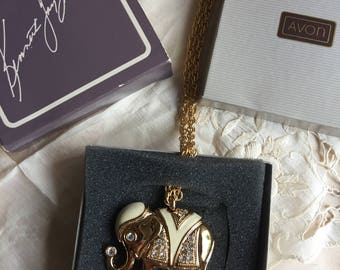 SALE!Kenneth J Lane for Avon Royal Elephant Necklace, 1991