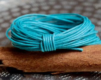 Waxed Cotton Cord, Bubblegum Blue