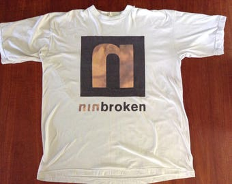 """Vintage NIN 'Broken Fixed"""" T shirt from Self Destruct tour XL (with AAA stage pass)"""