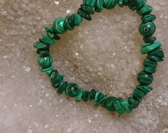 Malachite _ 18cm crystal healing bracelet